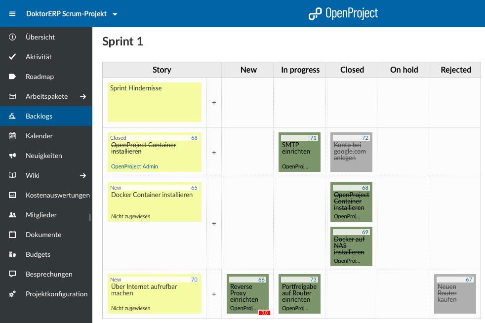 OpenProject-synology-kanban-board-scrum